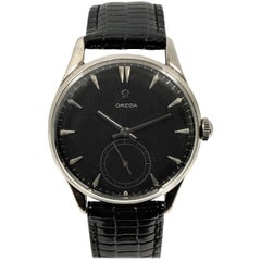 Omega 1950 Oversize Steel Manual Wind Wristwatch
