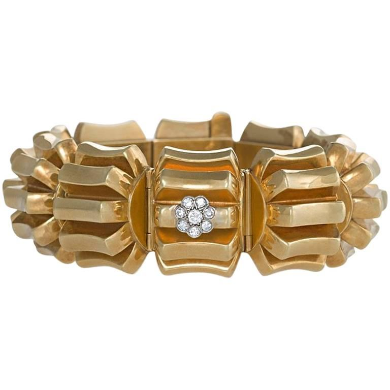 Omega Gold and Diamond Concealed Bracelet Watch