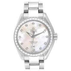 Omega Aqua Terra 34 Steel Diamond Ladies Watch 231.15.34.20.55.002 Unworn