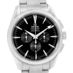 Omega Aqua Terra Black Dial Chronograph Steel Men's Watch 2512.50.00