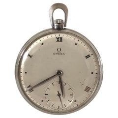 Omega Art Deco Vintage Steel cased Pocket Watch