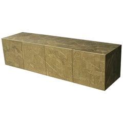 """Omega"" Art Sideboard Acid Etched Brass Design Corpus by Studio Belgali"