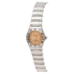 Omega Bronze Stainless Steel Diamond Cindy Crawford Constellation 1564.65 Women'