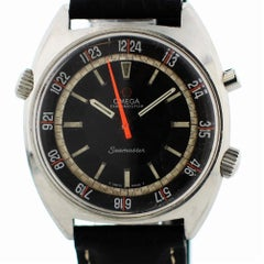 Omega Chronostop 145.008 with Band and Black Dial Certified Pre-Owned