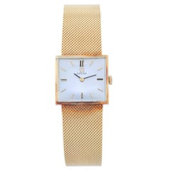Omega Yellow Gold Classic Manual Wristwatch