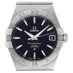 Omega Constellation 123.10.38.21.01.001, Black Dial, Certified