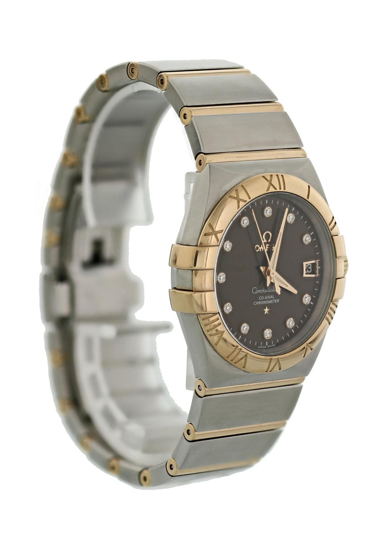 Omega Constellation 123.20.38.21.63.001 Co-Axial Chronometer Men's Watch In Excellent Condition For Sale In New York, NY