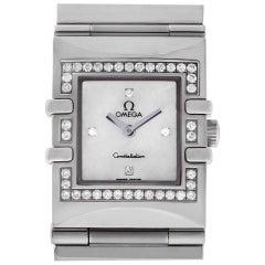 Omega Constellation 1528.76.00 Steel, Mother of Pearl Dial, Diamond Case Quartz