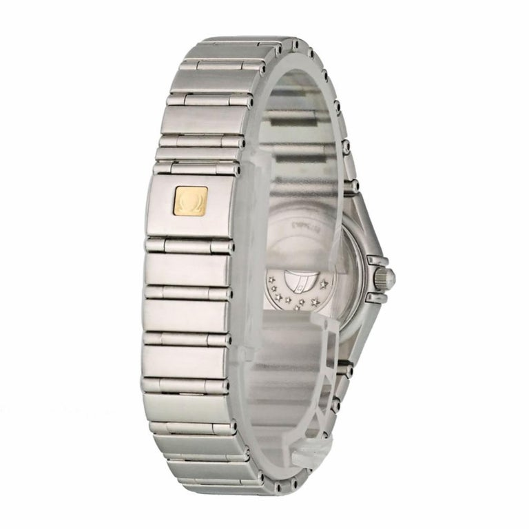 Contemporary Omega Constellation 1562.30.00, Black Dial, Certified and Warranty For Sale