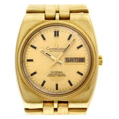 Omega Constellation 168.045, Gold Dial, Certified and Warranty