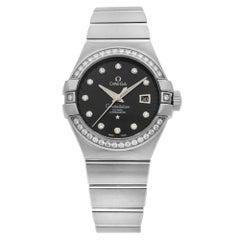Omega Constellation 18 Karat Gold Black Dial Ladies Watch 123.55.31.20.51.001