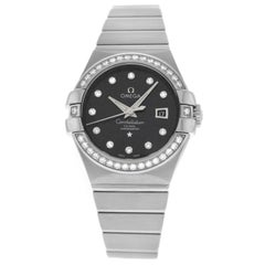 Omega Constellation 18 Karat Gold Diamond Automatic Watch