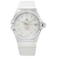 Omega Constellation 18 Karat Gold Diamond MOP Dial Watch 123.57.35.20.55.005