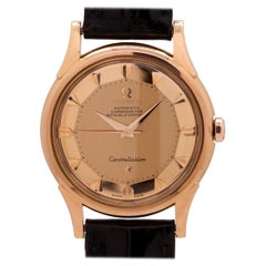 Omega Constellation 18 Karat Pink Gold Pie Pan Dial, circa 1959