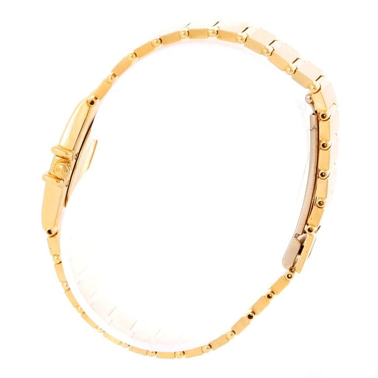 Omega Constellation 18 Karat Yellow Gold Diamond Black Dial Watch For Sale 2