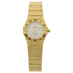 Omega Constellation 18 Karat Yellow Gold White Dial Quartz Ladies Watch