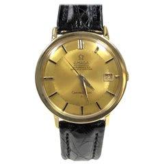 Omega Constellation 1960s 18 Karat Automatic Pie Pan Dial Wristwatch