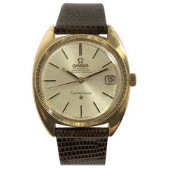 Omega Constellation 1960s Rose Gold Shell Automatic Wristwatch