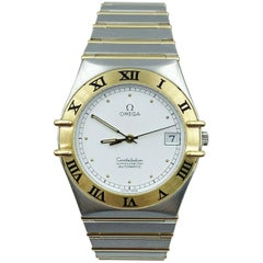 Omega Constellation 368.1075 18 Karat Yellow Gold Stainless Steel Box Papers