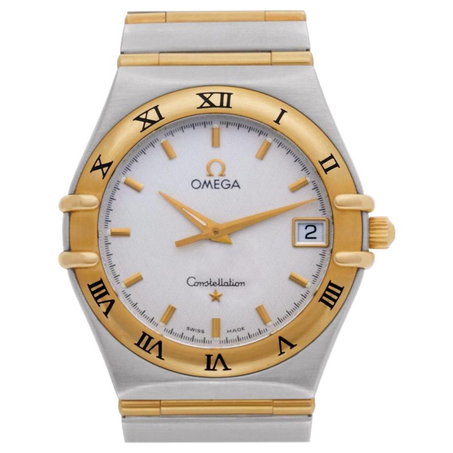Omega Constellation 3961201 18 Karat Yellow Gold White Dial Quartz Watch