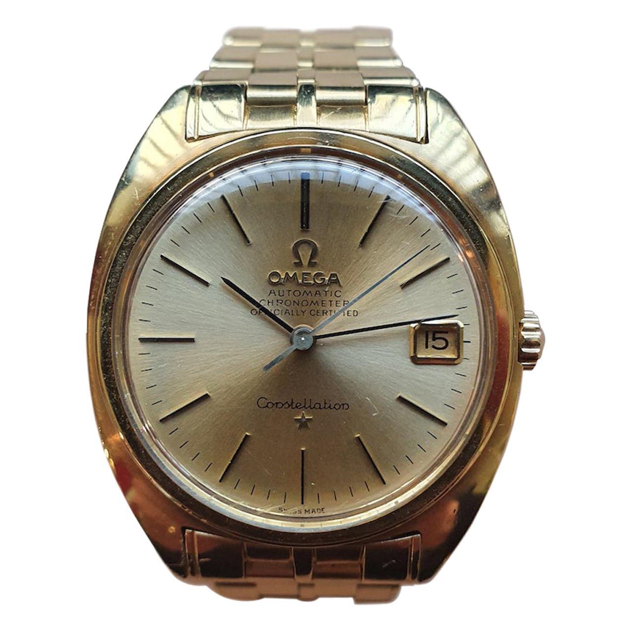 Omega Constellation Circa 1978 18K Gold