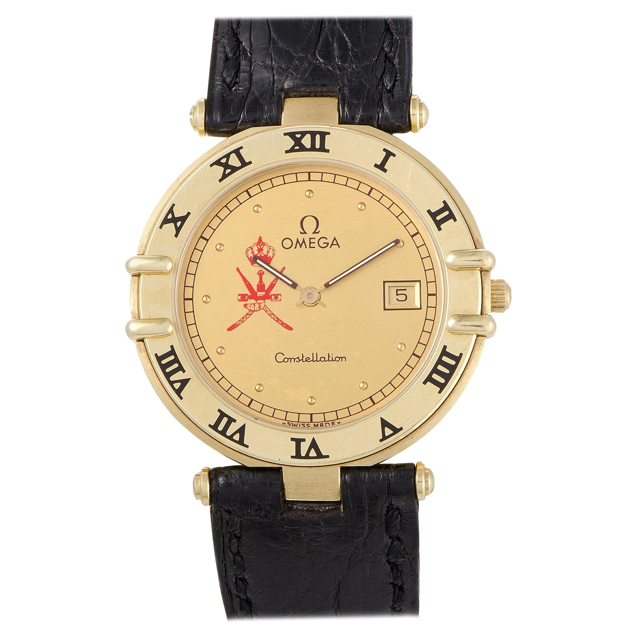 Omega Constellation Date Quartz Watch