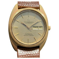 Omega Constellation Day Date Automatic 18 Karat Yellow Gold Watch
