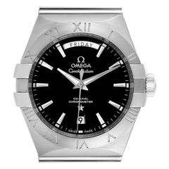 Omega Constellation Day-Date Steel Men's Watch 123.10.38.22.01.001 Card