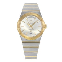 Omega Constellation Day Date Steel Yellow Gold 123.20.38.22.02.002 New B/P