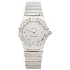 Omega Constellation Diamond 18 Karat White Gold 1165.36