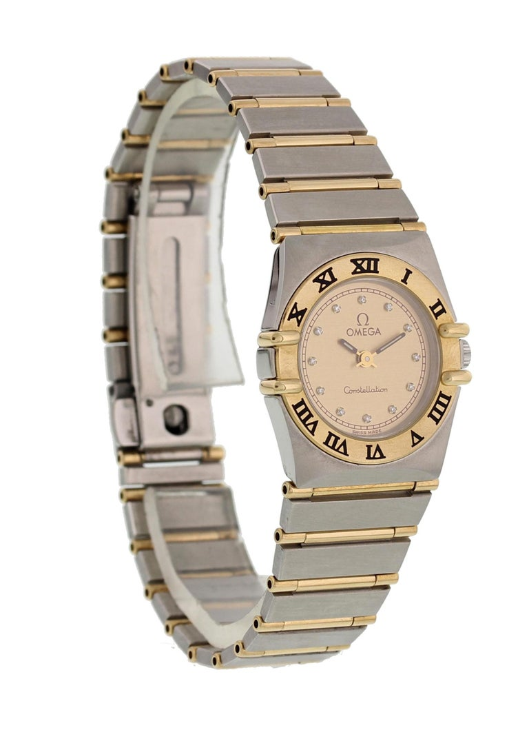 Omega Constellation Diamond Dial Ladies Watch In Excellent Condition For Sale In New York, NY