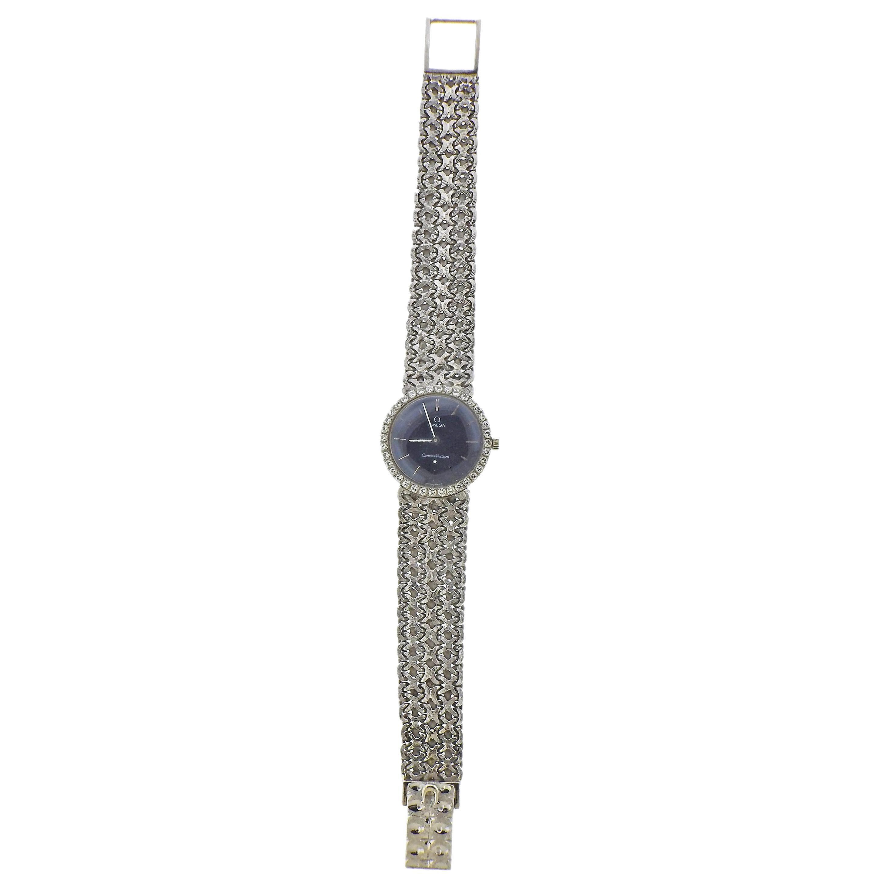 Omega Constellation Diamond Gold Ladies Watch