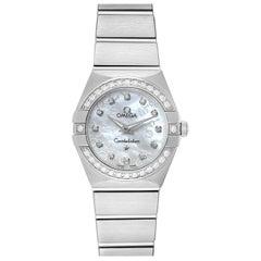Omega Constellation Diamond Ladies Watch 123.15.24.60.52.001
