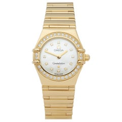 Omega Constellation Diamond Mother of Pearl 18 Karat Yellow Gold 11647500