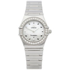 Omega Constellation Diamond Mother of Pearl Stainless Steel 1465.71.00