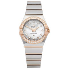 Omega Constellation Diamond Mother of Pearl Stainless Steel and Yellow Gold 1232