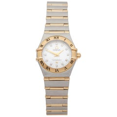 Omega Constellation Diamond Mother of Pearl Stainless Steel and Yellow Gold 1262