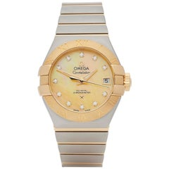 Omega Constellation Diamond Stainless Steel and Yellow Gold 123.20.27.20.57.002