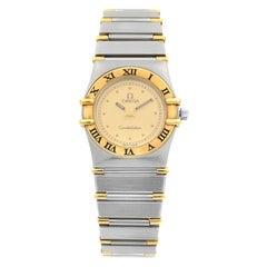 Omega Constellation Gold Steel Quartz Ladies Watch