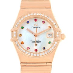 Omega Constellation Iris My Choice Rose Gold Ladies Watch 1140.79