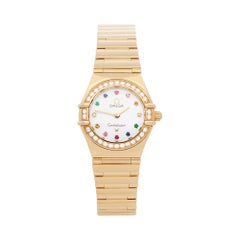 Omega Constellation Mother of Pearl Diamond 18 Karat Gold 11647900 Wristwatch