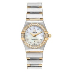 Omega Constellation Mother of Pearl Diamond Ladies Watch 1267.75.00 Box Card