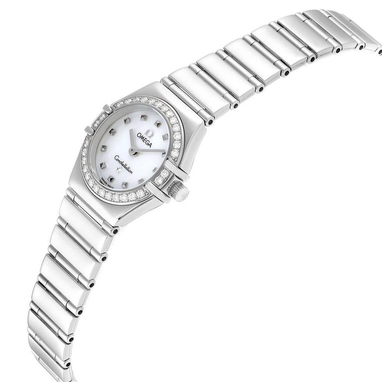 Women's Omega Constellation My Choice Mini Diamond Steel Watch 1465.71.00 For Sale