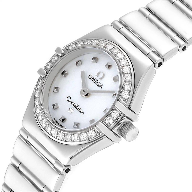Omega Constellation My Choice Mini Diamond Steel Watch 1465.71.00 For Sale 1