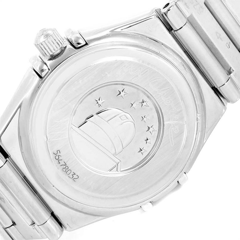 Omega Constellation My Choice Mini Diamond Steel Watch 1465.71.00 For Sale 2