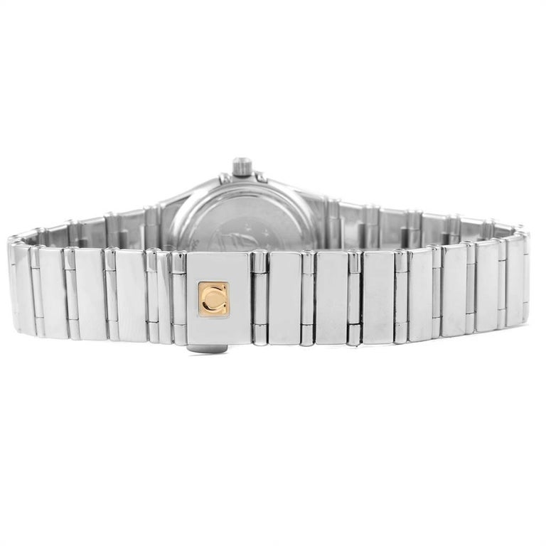 Omega Constellation My Choice Mini Diamond Steel Watch 1465.71.00 For Sale 3