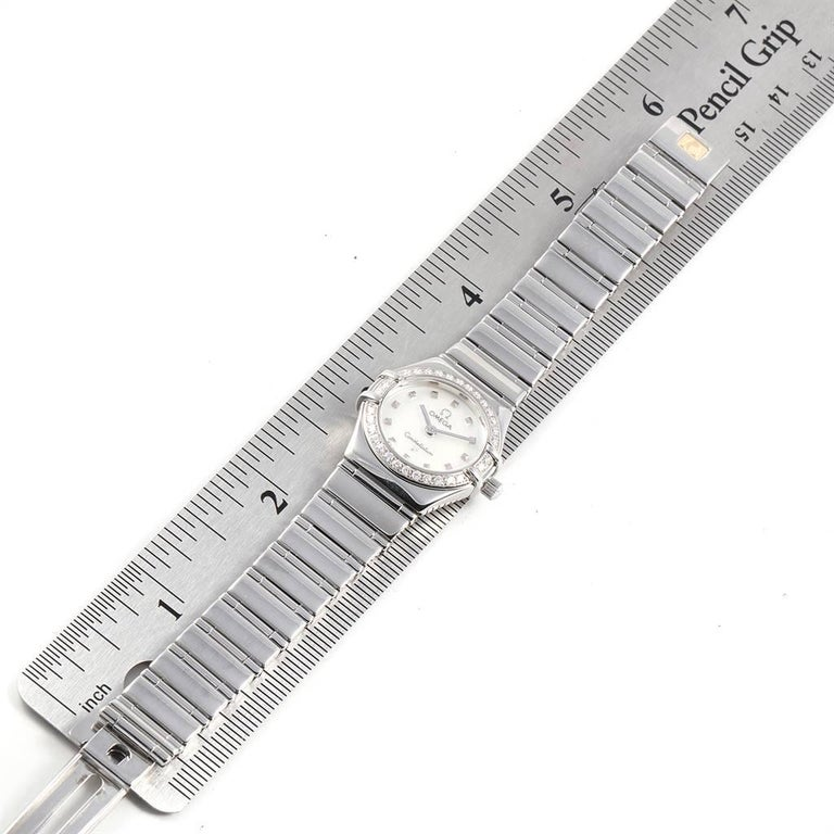 Omega Constellation My Choice Mini Diamond Steel Watch 1465.71.00 For Sale 4