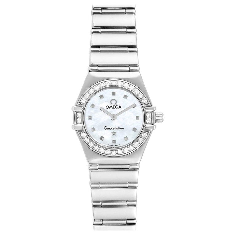 Omega Constellation My Choice Mini Diamond Steel Watch 1465.71.00 For Sale