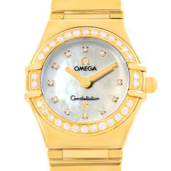 Omega Constellation My Choice Mini Gold Diamond Ladies Watch 1164.75.00