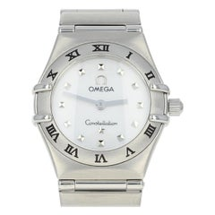 "Omega Constellation ""My Choice"" Mini Ladies Watch Stainless Steel Quartz w/Box"
